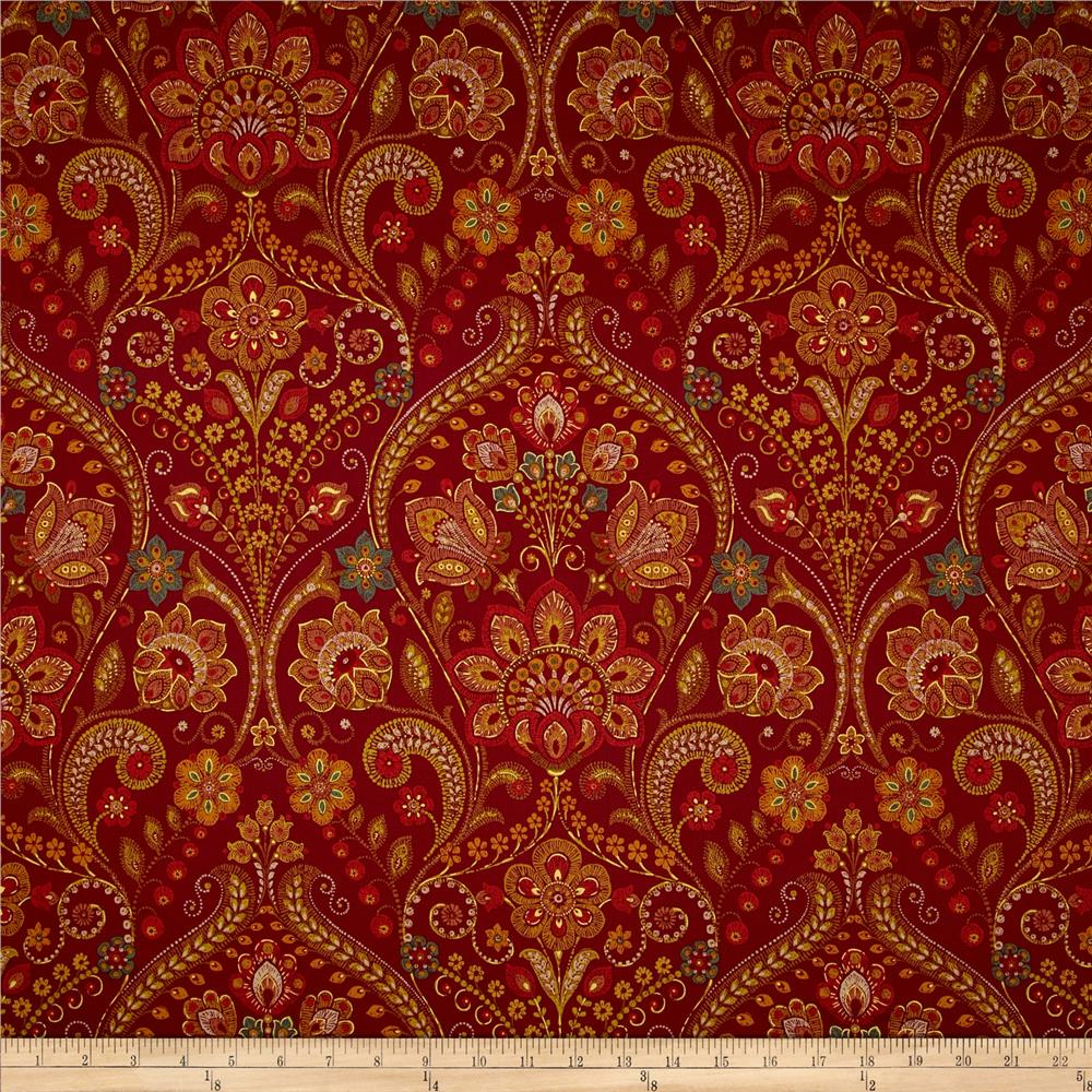 Richloom January Twill Cinnabar