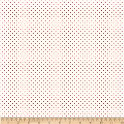 Riley Blake Raspberry Parlour Swiss Dots Red