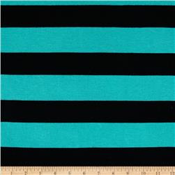 Stretch Yarn-Dyed Hatchi Black/Turquoise
