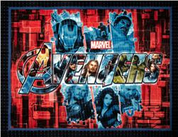 The Avengers No Sew Fleece Throw Kit Collage
