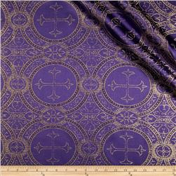 Clergy Metallic Brocade Purple/Gold