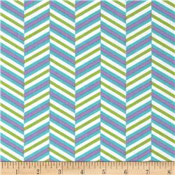 Pop Rox Chevron Blue Fabric