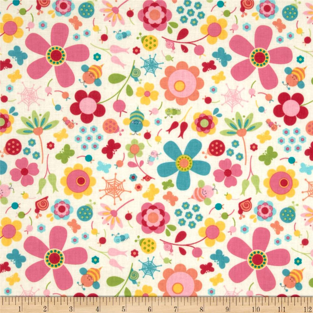 Riley Blake Snug as a Bug Large Floral Cream