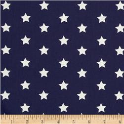 Dear Stella Sea Worthy Stars Navy Fabric
