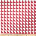 RCA Pax Triangles Blackout Drapery Fabric Hot Pink