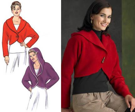 Kwik Sew Cropped One-Button Jackets Pattern