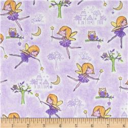 Comfy Flannel Fairy Princess Purple