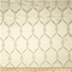 Starlight Lodi Metallic Diamond Satin Jacquard Ivory