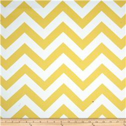 RCA Chevron Blackout Drapery Fabric Lemon
