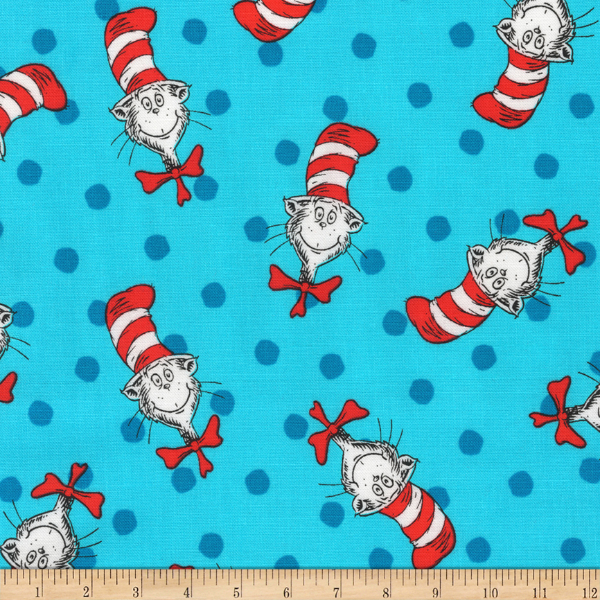 Kaufman The Cat In The Hat Thing Celebration Fabric