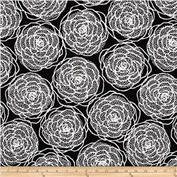 Essentials 8 Border Dotty Roses Black