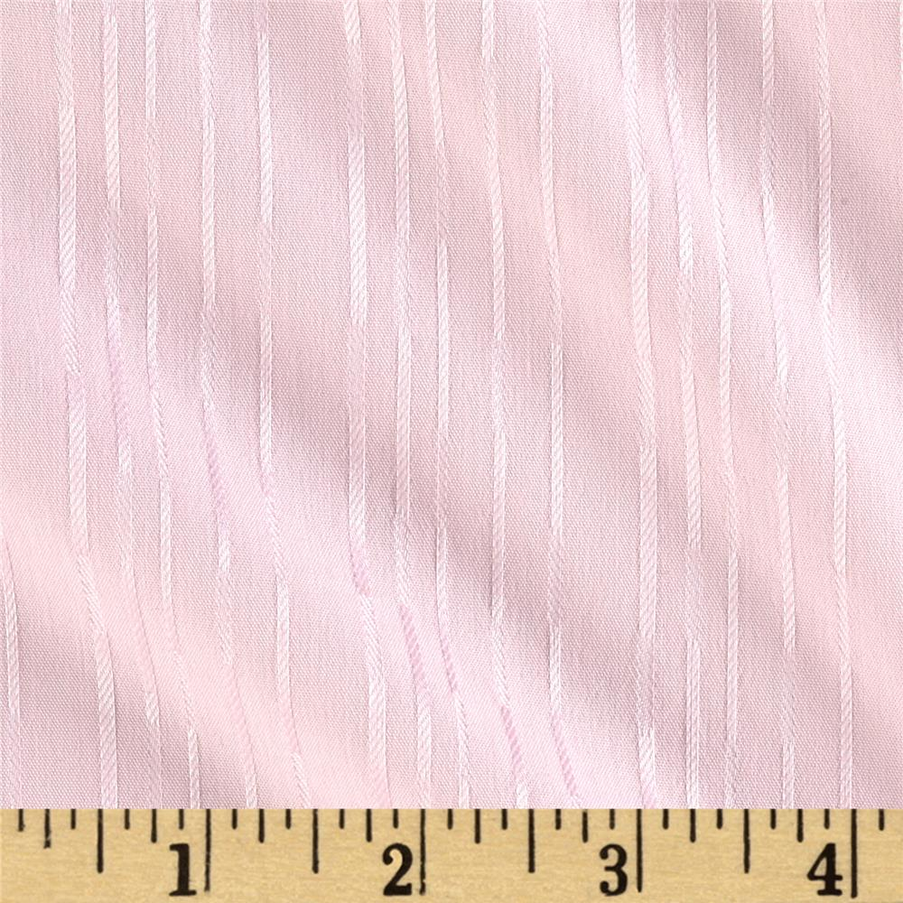 Cotton Dobby Shirting Stripes Pale Pink