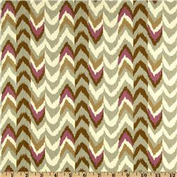 Waverly Living Color Chevron Stripe Twill Sterling