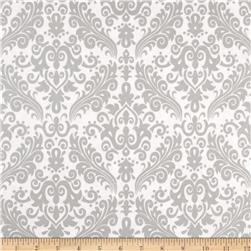 Riley Blake Silver Sparkle Medium Damask