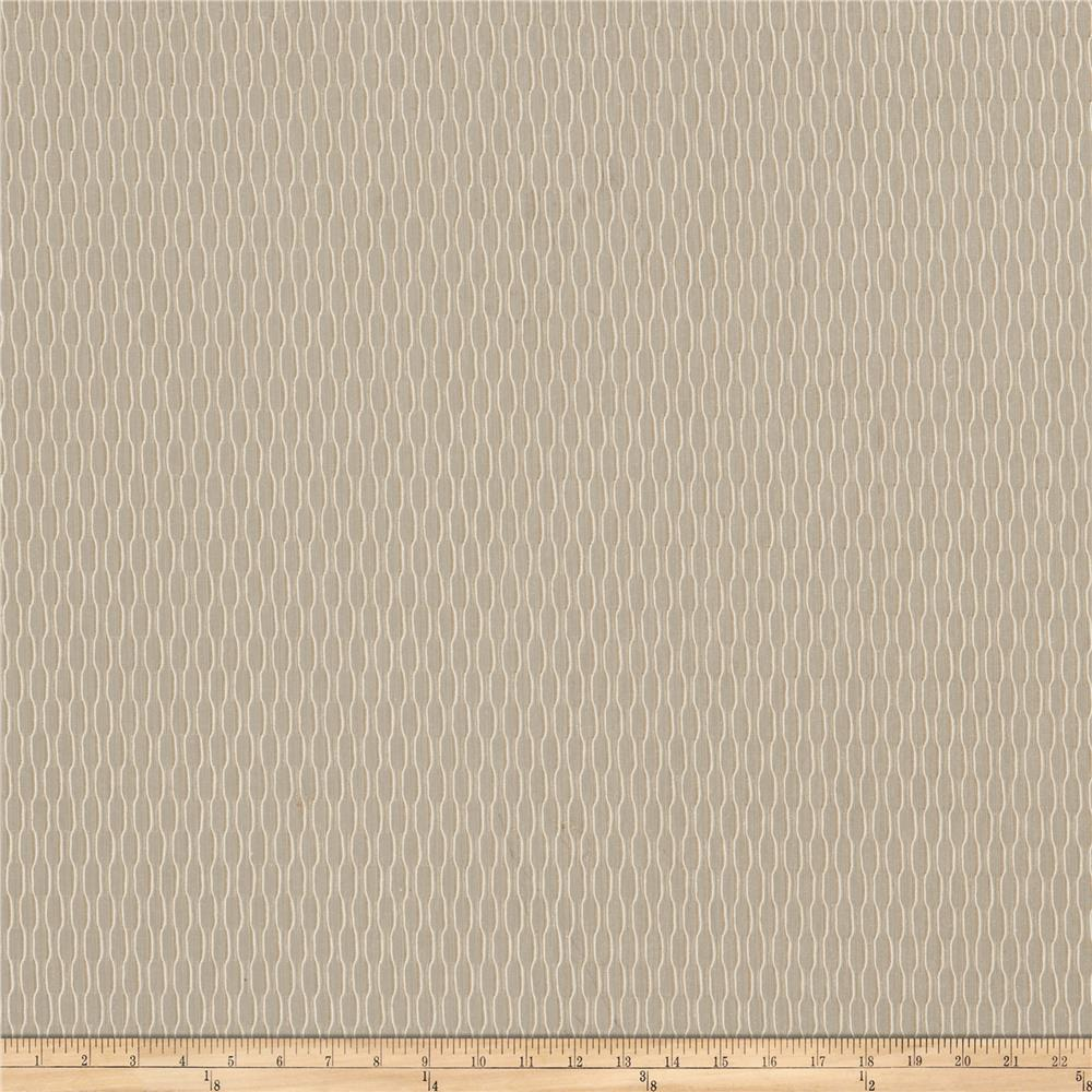 Fabricut ani 118 embroidered sheer wheat discount for Sheer fabric
