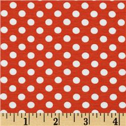 Riley Blake Cotton Jersey Knit Small Dots Orange