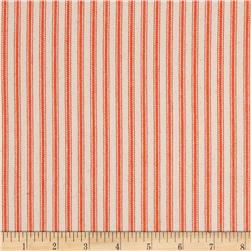 "44"" Ticking Stripe Twill Orange"