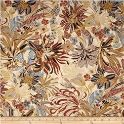 Kaya Metallic Packed Floral Natural/Gold Fabric