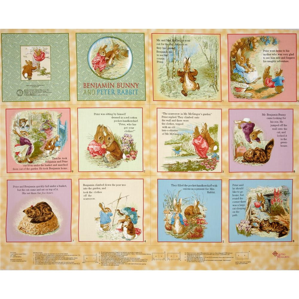 Beatrix Potter Benjamin Bunny Soft Book Panel Honey