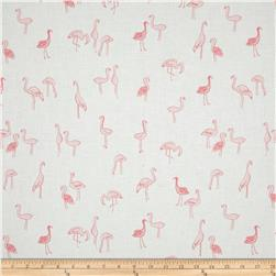 Dear Stella Tropic Like It's Hot Flamingos White