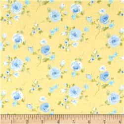 Rose Garden Flannel Yellow