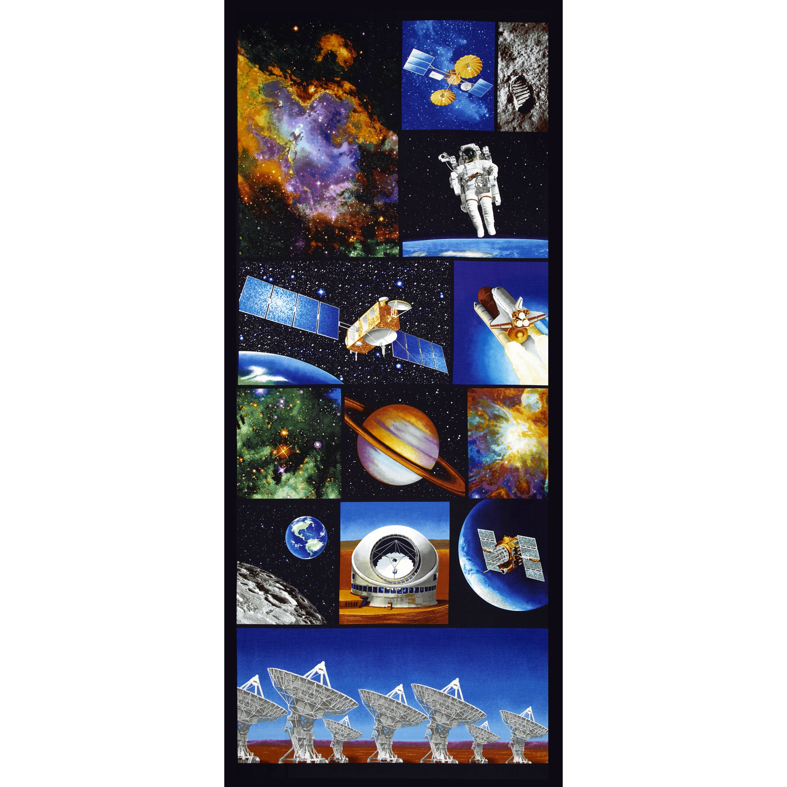 Image of I Want My Space 57'' Wide Space Exploration Panel Multi Fabric