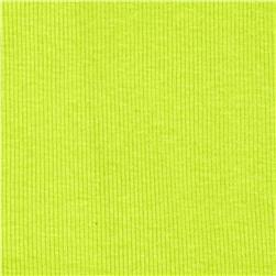 Basic Cotton Rib Knit Cool Lime