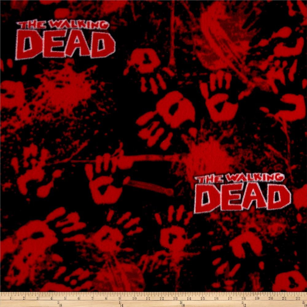 The Walking Dead Fleece Bloody Hands Red
