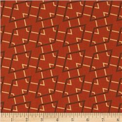 Retro Geo Parallelograms Orange