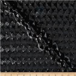 International Designer Sequined Raised Harlequin Black