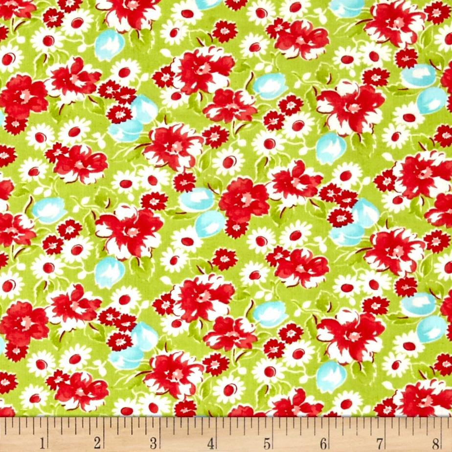 Moda Little Ruby Little Swoon Green
