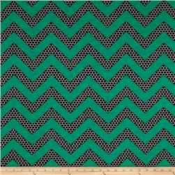 Stretch ITY Knit Chevron Kelly Green