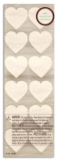 Martha Stewart Crafts Dimensional White Heart Stickers