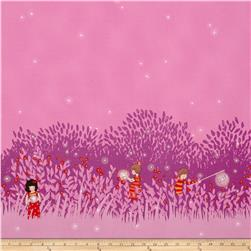 Michael Miller Wee Wander Summer Night Lights Double Border Magenta