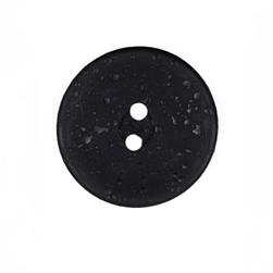 Kathy Ireland Fashion Button 1 1/2'' Raindrops Black