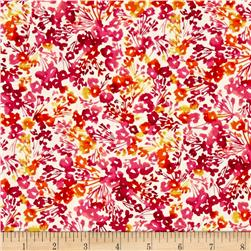 Timeless Treasures Dahlia Small Watercolor Floral Cream