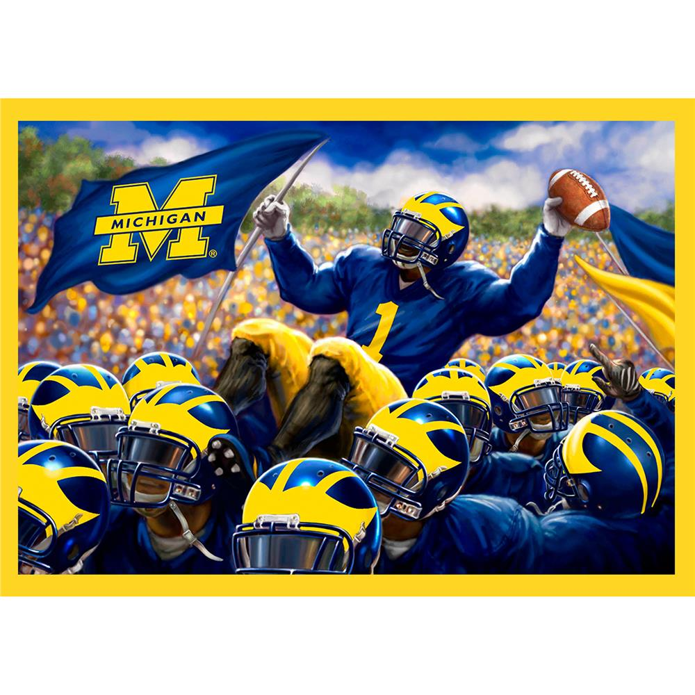 Collegiate Fleece Panel University of Michigan Blue
