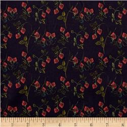 Liberty of London Tana Lawn Strawberry Fields Navy Bleu/Green/Red