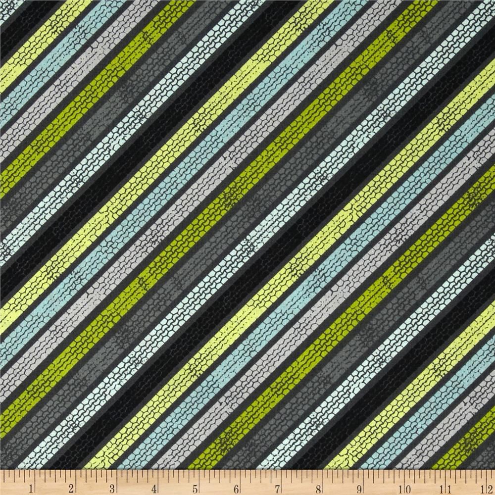 Auto Tracks Diagonal Stripe Grey