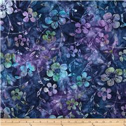Indian Batiks Dogwood Purple/Green