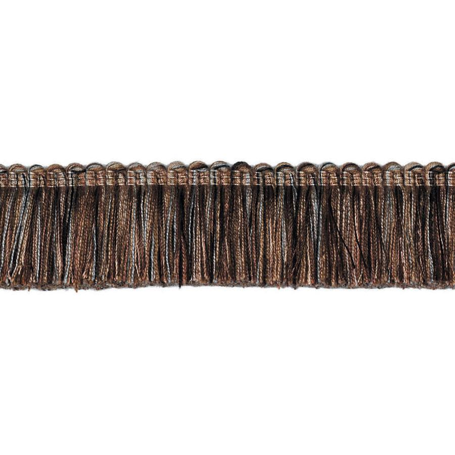 "Fabricut 1.5"" Escargot Brush Fringe Jamoca"