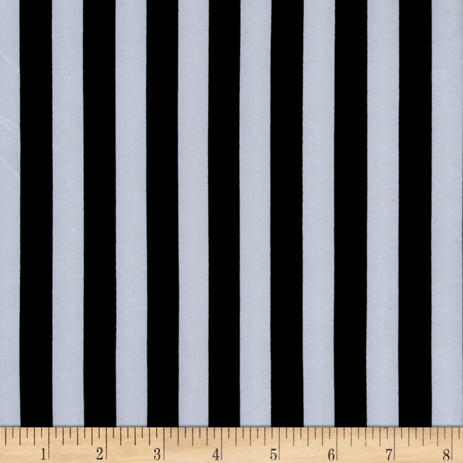 Stretch ITY Jersey Knit Classic Stripe Black White Fabric By The Yard