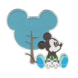 Disney Mickey Mouse Iron On Applique Mickey W/Silhouette