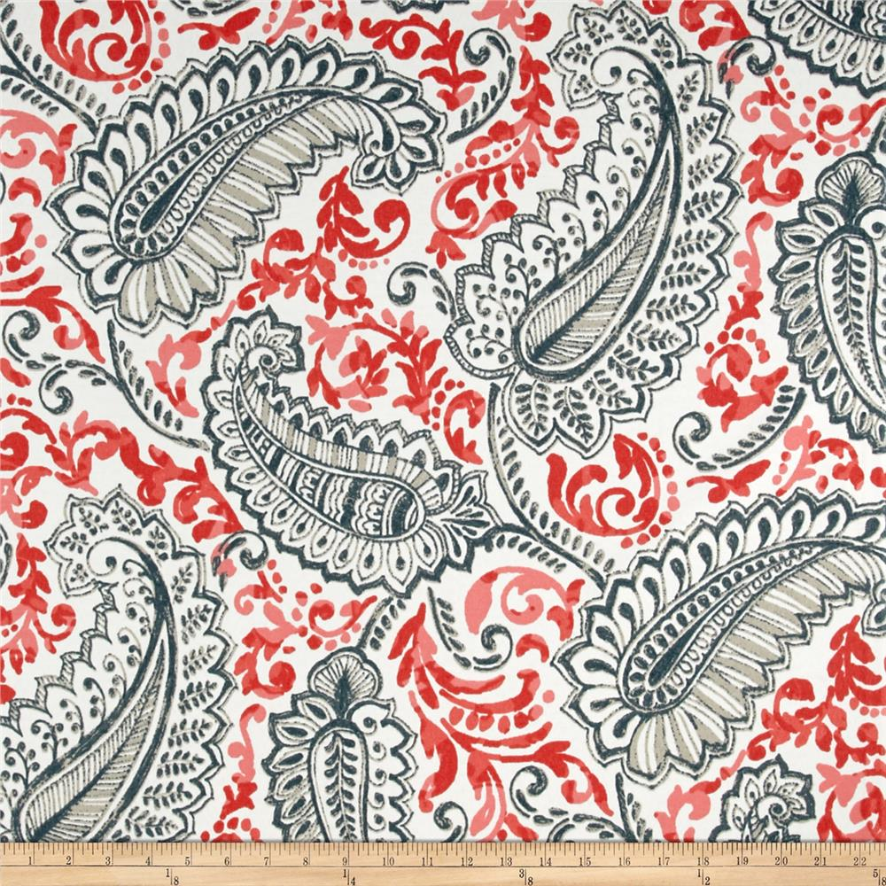 Discount outdoor fabric by the yard - Premier Prints Shannon Indoor Outdoor Indian Coral Discount