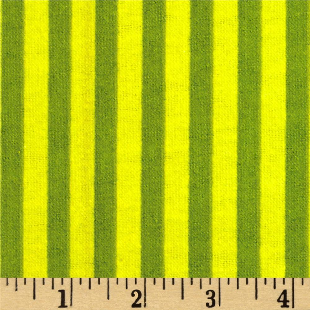 Aunt Polly's Flannel Stripes Olive