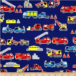 Kokka Transportation Construction Trucks Royal Blue
