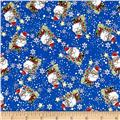 Season Greeting Jolly Santas Blue