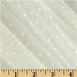 Jacquard Mini Dot Lace White