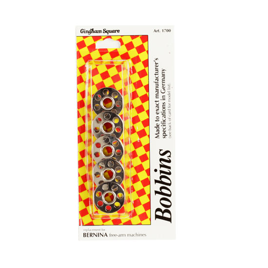Bernina Metal Bobbins 5/pkg Fabric
