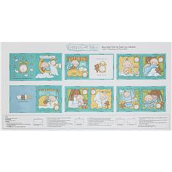 "Sweet Pea Sleepytime Soft Baby Book 24"" Panel Blue"